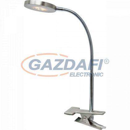 GLOBO 24122K DENIZ Csíptetös asztali lámpa ,  LED 5W , 3000 K , 350 Lm , nikkel matt / króm / akril