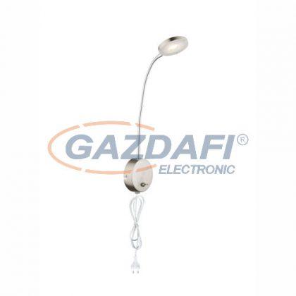 GLOBO 24122W DENIZ  Fali lámpa , LED 5W , 3000 K , 350 Lm , nikkel matt / króm / akril
