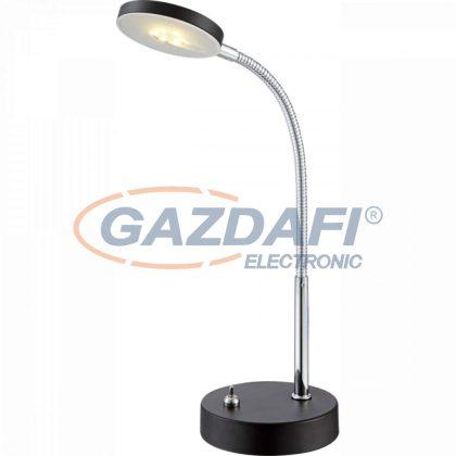 GLOBO 24124 DENIZ Asztali lámpa ,  LED 5W , 3000 K , 350 Lm , fém fekete / króm / akril