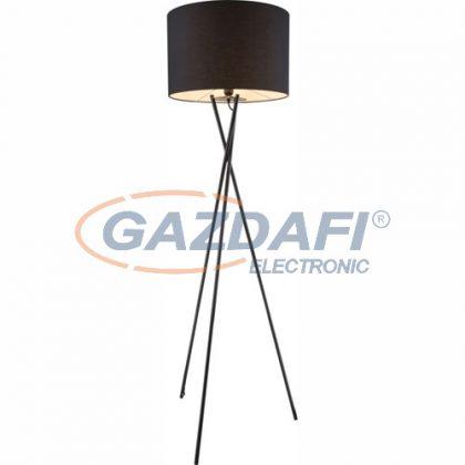 GLOBO 24686 GUSTAV  Állólámpa , 60W , E27 , fém fekete , textil , műanyag
