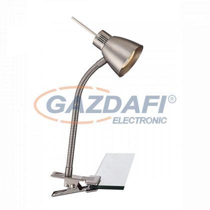 GLOBO 2476L NOUVA Csíptetös asztali lámpa , LED 3W , GU10 , fém, nikkel matt