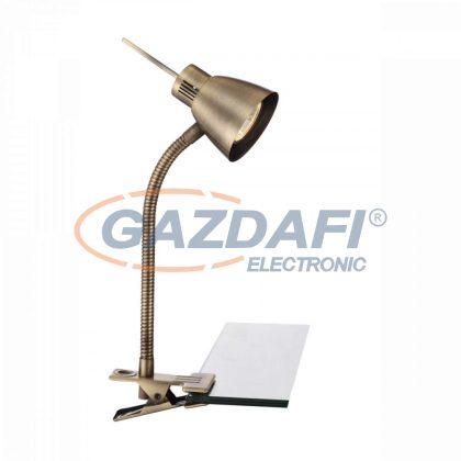 GLOBO 2477L NOUVA Csiptethetö asztali lámpa ,  LED 3W , GU10 , fém, antik sárgaréz