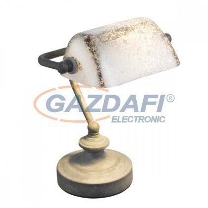 GLOBO 24917R ANTIQUE Asztali lámpa , 25W , E14 , fém, rozsda hatás, műanyag, arany