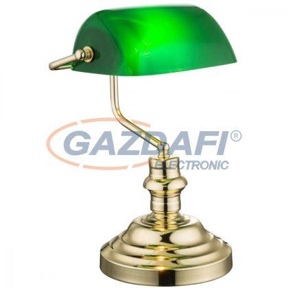 GLOBO 2491K Antique Asztali lámpa , 60W , E27 , sárgaréz, műanyag