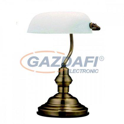 GLOBO 2492 ANTIQUE Asztali lámpa , 60W , E27 , antik sárgaréz, üveg