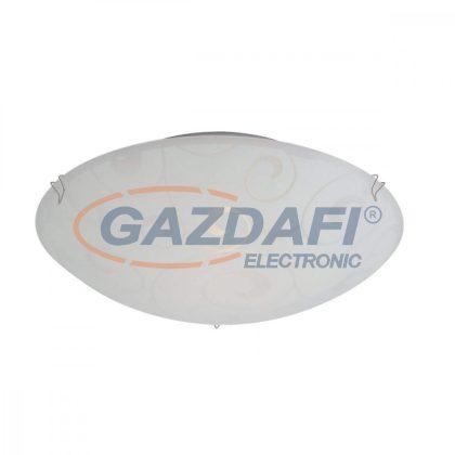 GLOBO 40400-1 BIKE  Mennyezeti lámpa ,E27, ILLU, 60W , 230V , nikkel matt , fém fehér , üveg