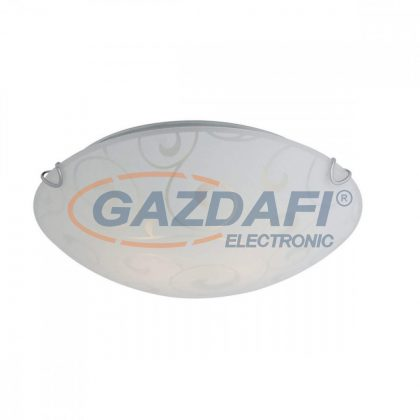 GLOBO 40400-2 BIKE Mennyezeti lámpa , E27 ,ILLU , 60W , 230V , nikkel matt , fém fehér , üveg