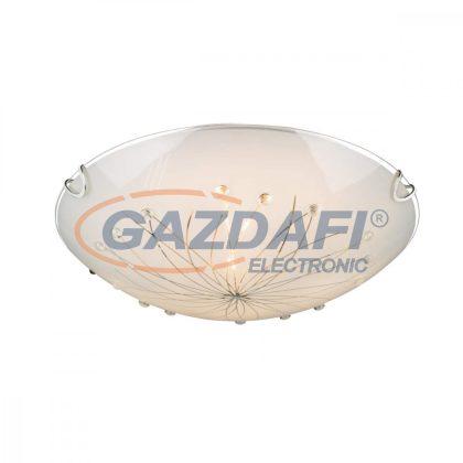 GLOBO 40402-2 Calimero I Mennyezeti lámpa ,E27, ILLU, 60W , króm , fém fehér , üveg