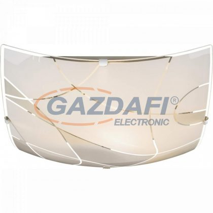 GLOBO 40403-2 PARANJA Mennyezeti lámpa , E27, ILLU, 60W , króm , fém fehér , üveg