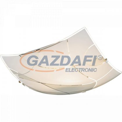 GLOBO 40403-3 PARANJA Mennyezeti lámpa , E27, ILLU , 60W , króm , fém fehér , üveg