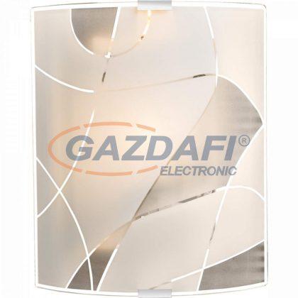 GLOBO 40403W2 PARANJA Fali lámpa ,E27, ILLU , 60W , króm , fém fehér , üveg