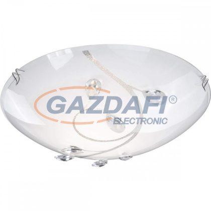GLOBO 40404-1 BURGUNDY Mennyezeti lámpa ILLU, 60W, 230V , E27 , nikkel matt , fém fehér , K5 kristály , üveg