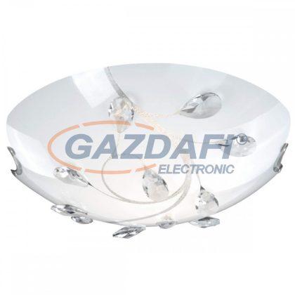 GLOBO 40404-2 BURGUNDY Mennyezeti lámpa , ILLU, 40W, E27 , 230V , nikkel matt , fém fehér , K5 kristályok , üveg