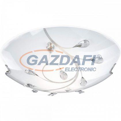 GLOBO 40404-3 BURGUNDY Mennyezeti lámpa , E27, ILLU, 40W, 230V , nikkel matt , fém fehér , K5 kristályok , üveg