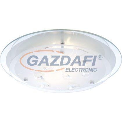 GLOBO 40409-2 Brenda Mennyezeti lámpa , 40W , E27 , króm , K5 kristályok , üveg