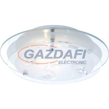 GLOBO 40409 BRENDA Mennyezeti lámpa , 40W , E27 , króm K5 kristályok , üveg