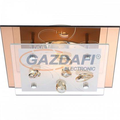 GLOBO 40412-2 AYANA Mennyezeti lámpa , 40W , E27 , króm , fém fehér , K5 kristályok , üveg