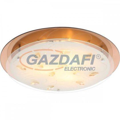 GLOBO 40413-3 AYANA Mennyezeti lámpa , 40W , E27 , króm , fém fehér , K5 kristályok , üveg