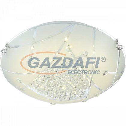 GLOBO 40417-18 Sabbia Mennyezeti lámpa , 18W , 4000 K , 1440 Lm , króm , fém fehér , K5 kristályok, üveg