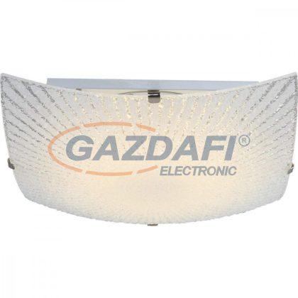 GLOBO 40448 Vanilla Mennyezeti lámpa, 8W , 3500 K , 600 Lm , nikkel matt , fém fehér , üveg