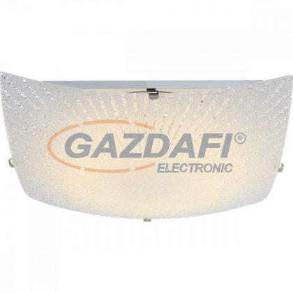 GLOBO 40449 Vanilla Mennyezeti lámpa , 12W , 3500 K , 900 Lm , nikkel matt , fém fehér , üveg