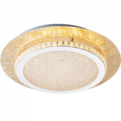 GLOBO 41908-18 Tilo Mennyezeti lámpa , 18W , 3000 K , 1100 Lm , K5 kristályok , arany