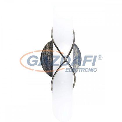 GLOBO 44137-1 RANIA Fali lámpa , 40W , E14 ,  fém fekete-arany lencse, üveg