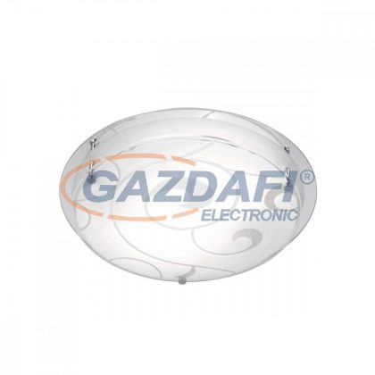 GLOBO 48060-2 KRISTJANA Mennyezeti lámpa , E27, ILLU, 60W , króm , fém fehér , üveg