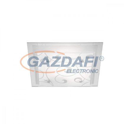 GLOBO 48062-2 DIA  Mennyezeti lámpa , E27, ILLU, 60W ,230V , króm , fém fehér , üveg
