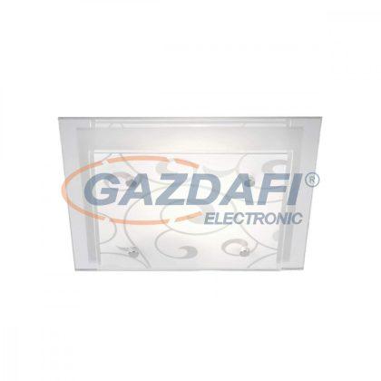GLOBO 48062 DIA Mennyezeti lámpa , E27, ILLU , 60W , 230V, króm , fém fehér , üveg