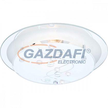 GLOBO 48090 BALLERINA I Mennyezeti lámpa , E27, ILLU, 60W , króm ,fém fehér , üveg