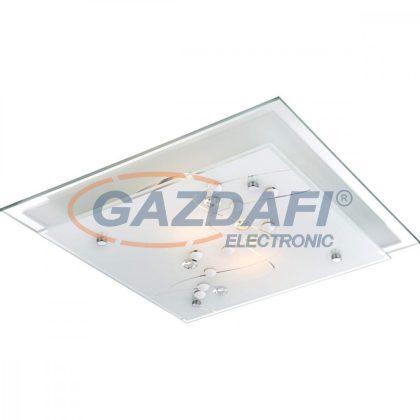 GLOBO 48092-2 BALLERINA I Mennyezeti lámpa ,E27, ILLU, 60W , króm , fém fehér , üveg