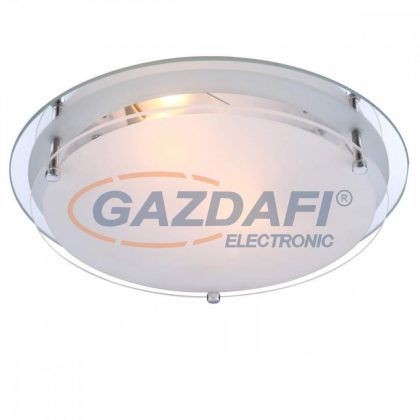 GLOBO 48167-2 INDI Mennyezeti lámpa , E27, ILLU, 60W , króm , fém fehér , üveg
