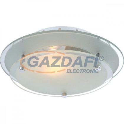 GLOBO 48167 INDI Mennyezeti lámpa , E27, ILLU, 60W , 230V , króm , fém fehér , üveg