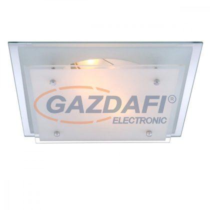 GLOBO 48168-2 INDI Mennyezeti lámpa , E27, ILLU , 60W , króm , fém fehér , üveg