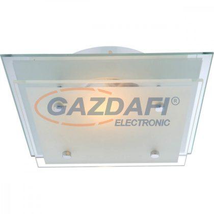 GLOBO 48168 INDI Mennyezeti lámpa, E27, ILLU, 60W , 230V , króm , fém fehér , üveg