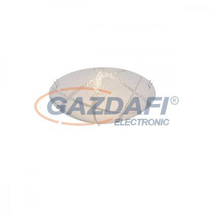 GLOBO 48266-8 Ferdi Mennyezeti lámpa , 8W , 3000 K , 640 Lm , króm , fém fehér , üveg