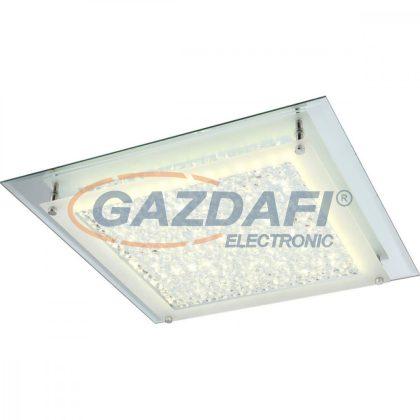 GLOBO 49302 Liana Mennyezeti lámpa , 18W , 4000 K ,1620 Lm , króm, K5 kristály , tükör, üveg