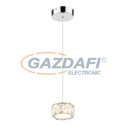 GLOBO 49350H Amur Beltéri lámpa, 8W , 4000 K , 620 Lm , K5 kristályok , króm/akril