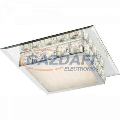 GLOBO 49355-18 Margo Mennyezeti lámpa , 18W , 4000 K , 1250 Lm , króm , tükör , K5 kritsály , üveg , akril , szikra dekor