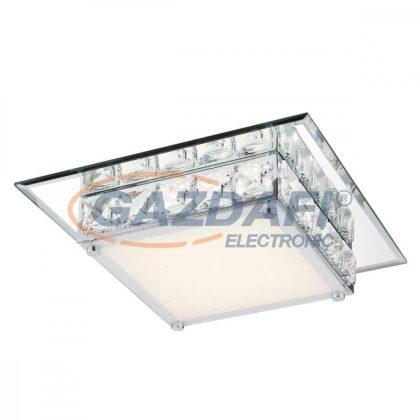 GLOBO 49355 Margo Mennyezeti lámpa , 12W , 4000 K , 720 Lm ,tükör , K5 kritsály , üveg , akril , szikra dekor