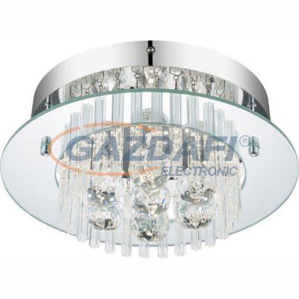 GLOBO 49361 Elena Mennyezeti lámpa , 11W , 4000 K , 960 Lm , K5 kristályok , króm , üveg
