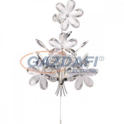 GLOBO 5137 JULIANA Fali lámpa , 40W , E14 , króm , akril kristályok