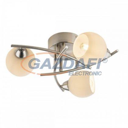 GLOBO 54002-3 ROBIN Mennyezeti lámpa , 40W , E14 , nikkel matt ,  üveg
