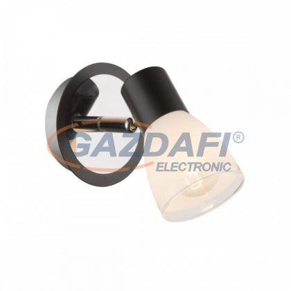 GLOBO 541012-1 Virunga Fali lámpa , 40W , E14 , króm , fém fekete , üveg