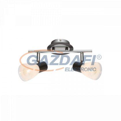 GLOBO 541012-2 Virunga Mennyezeti lámpa , 40W ,  2x E14 , króm , fém fekete , üveg