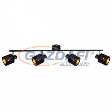 GLOBO 54121-4 TROY Mennyezeti lámpa , 8W , 4x E14 , fém fekete , matt , króm, bársony fekete , műanyag , arany