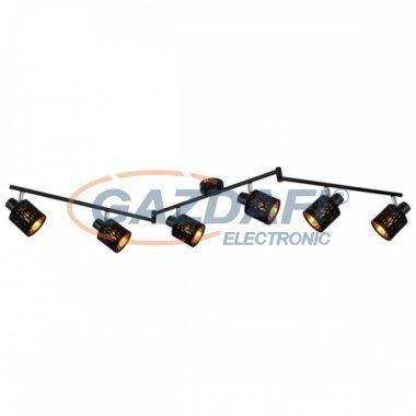GLOBO 54121-6 TROY Mennyezeti lámpa  , 8W , 6x E14 , fém fekete , matt , króm, bársony fekete , műanyag , arany