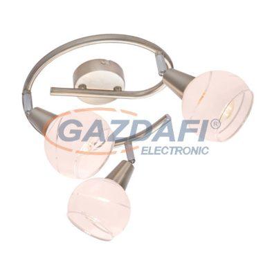 GLOBO 54341-3G ELLIOTT Mennyezeti lámpa , LED 5W , 3x E14 , 3000 K , 3x 320 Lm , nikkel matt , króm , üveg