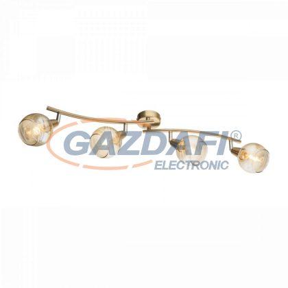 GLOBO 54346-4 Lara  Mennyezeti lámpa ,  LED 4W ,  4x E14  ,3000 K , 4x 320 Lm , antik arany , króm , üveg